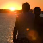 romantisk weekendophold i solnedgang